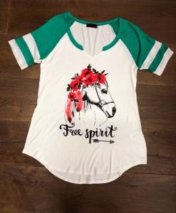 free spirit graphic top