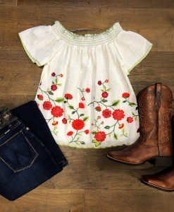 WOMENS EMBROIDERY TOP