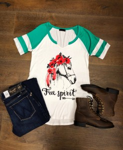 horse graphic top