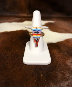 BULL SKULL STRETCH RING