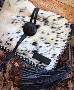 COW LEATHER HIDE PURSE