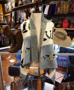 western fuzzy vest
