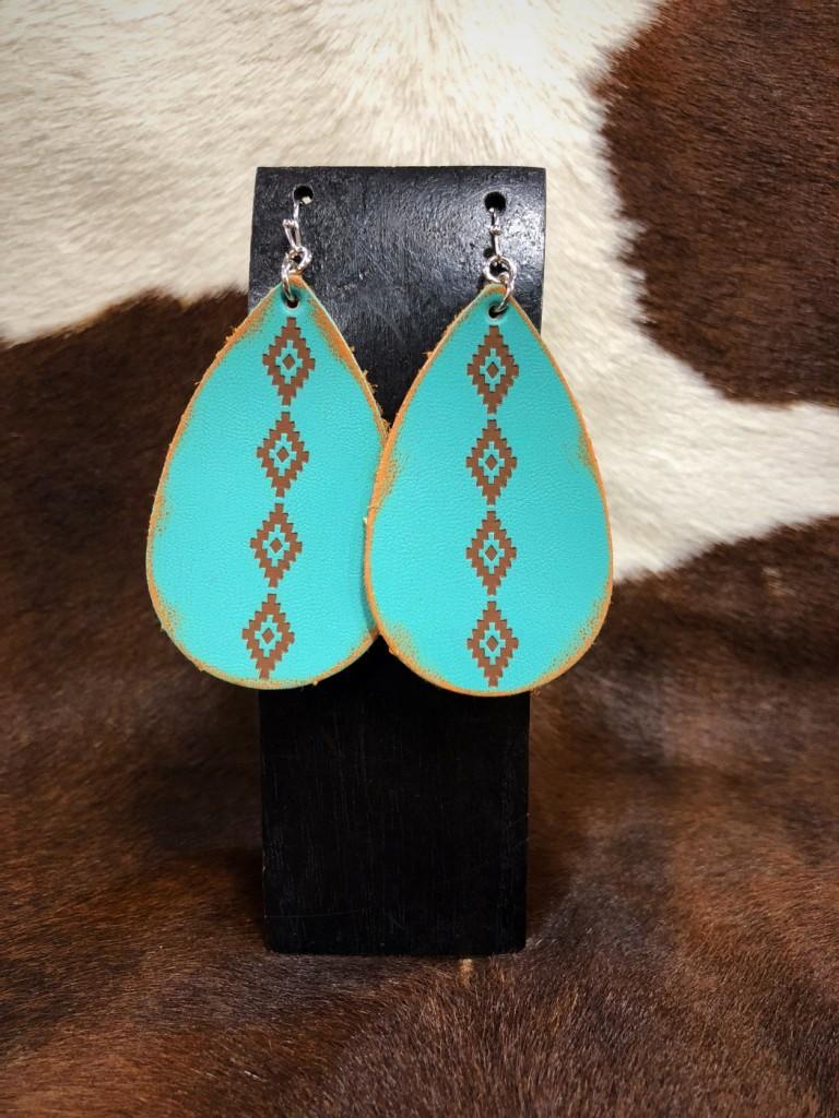 trendy leather earrings