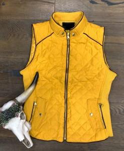 quilted zipper vest
