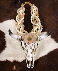 longhorn bull skull necklace