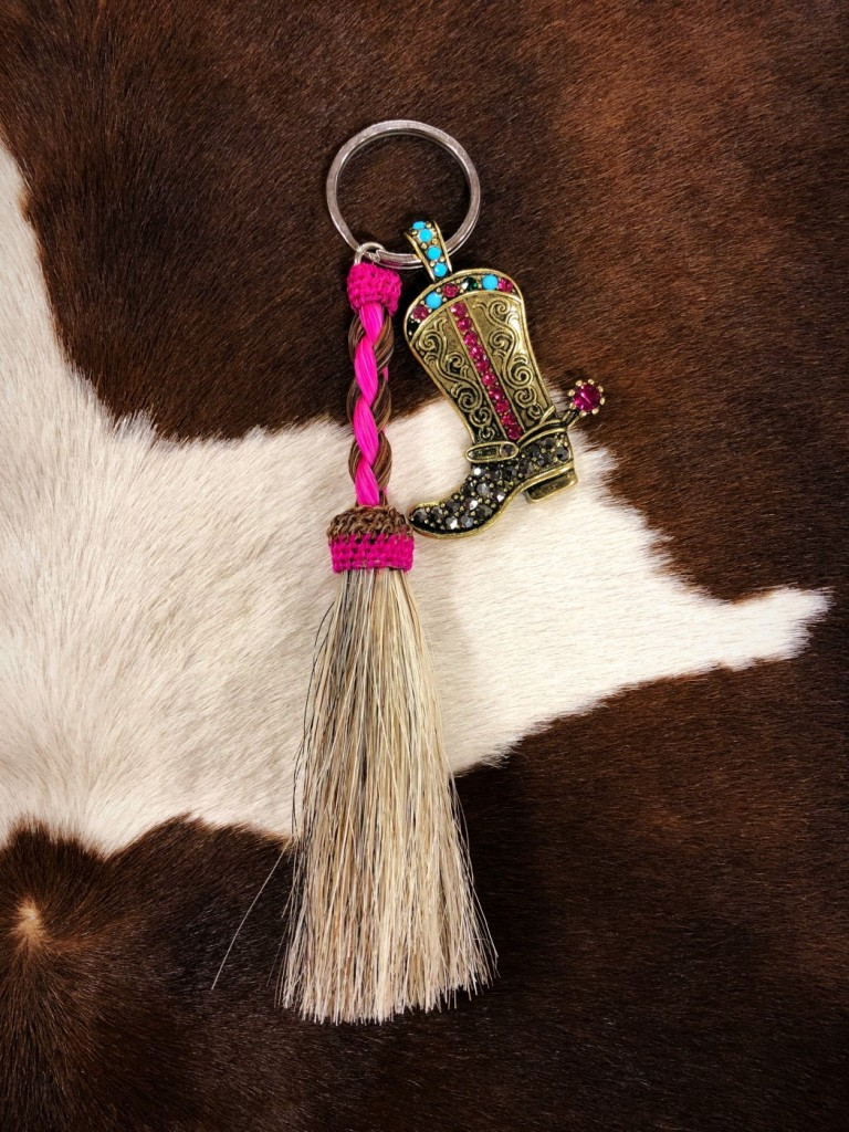 cowgirl boot keychain