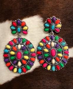 western gemstone earrings