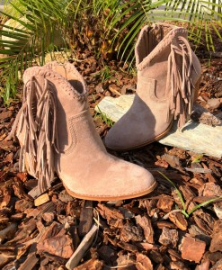 womens fringe booties