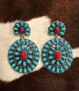 western gemstone earrings