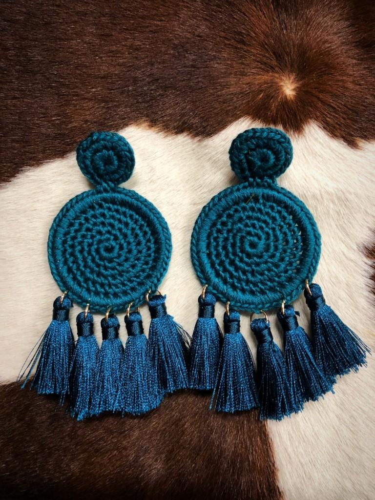 knit and tassel earrings