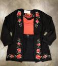 floral embroidery kimono