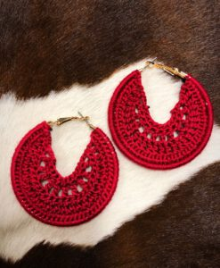 crochet moon earrings