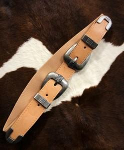 Plain Double Belt Buckle Stretch Belt