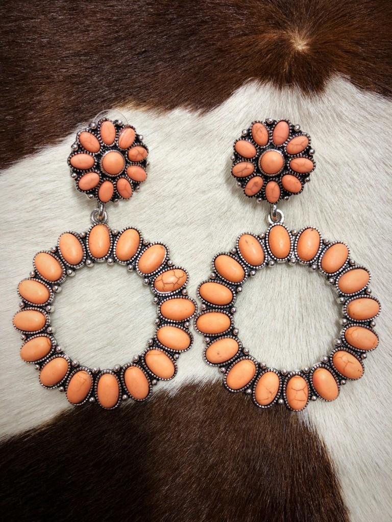 earrings melon gemstone
