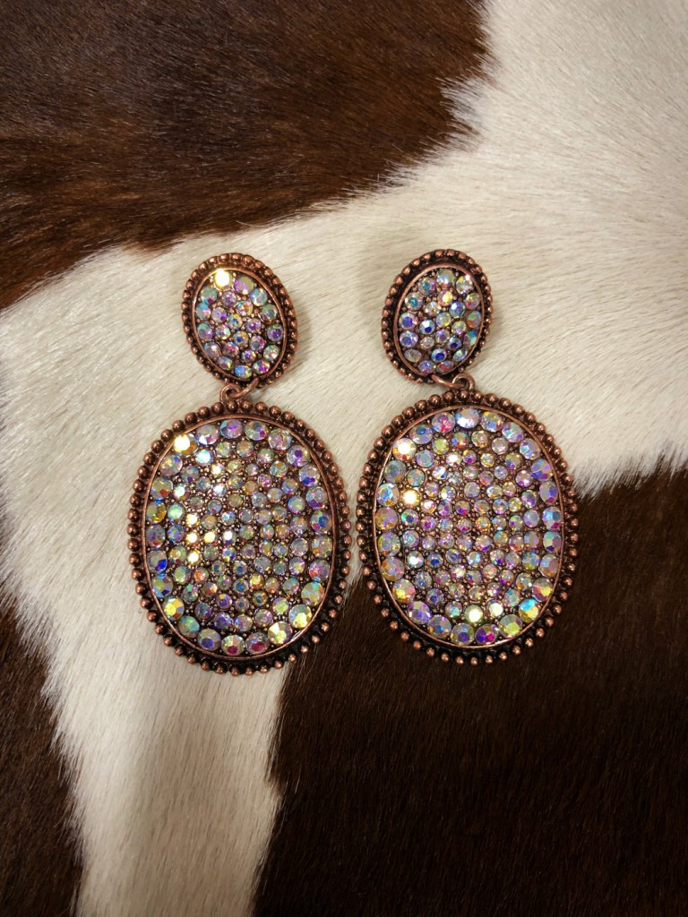 """ Unicorn "" Multi Color Crystal Earrings"