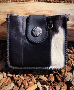 delila leather hide crossbody