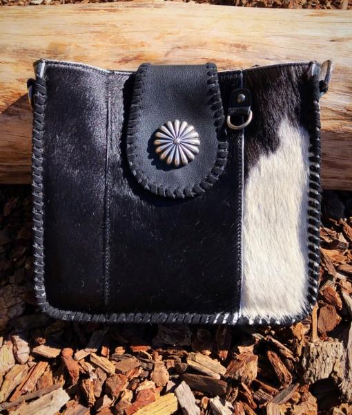 delila leather hide crossbody