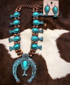 BOHO SQUASH BLOSSOM NECKLACE