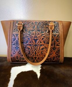 della western tooled bag