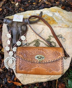 tooled crossbody