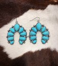 turquoise squash earrings