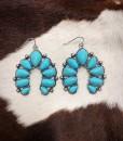 turquoise squash earrings