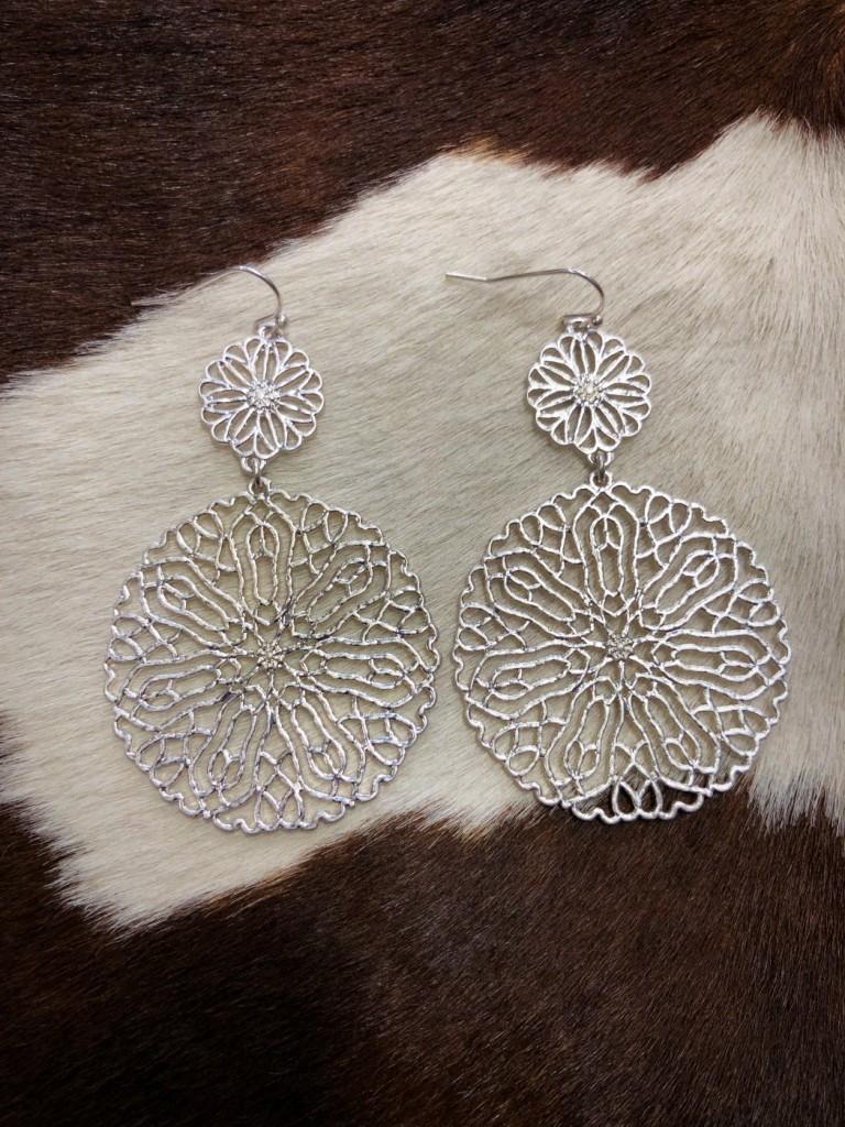 cut out western fashion earrings