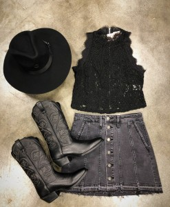 lace embellished top