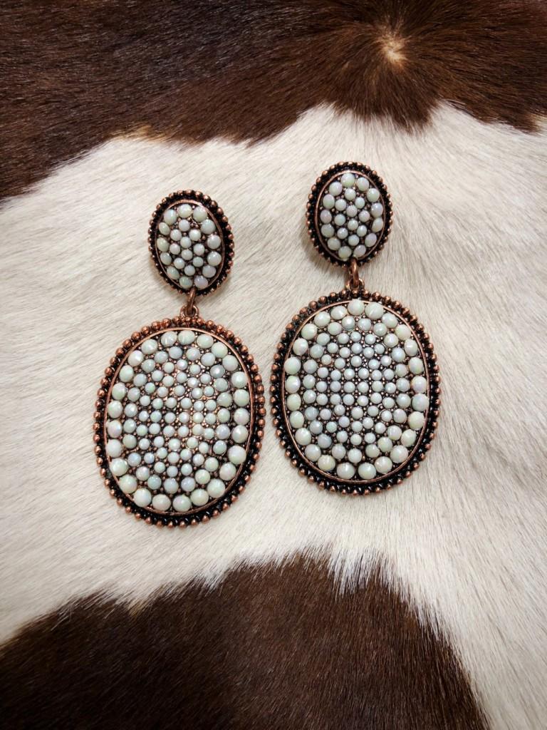 multi crystal earrings