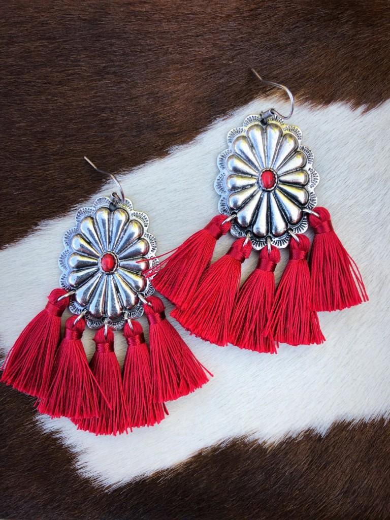 western concho earrings