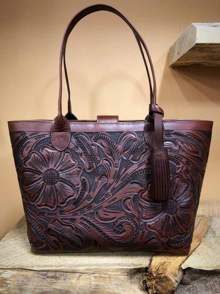 large tote leather purse
