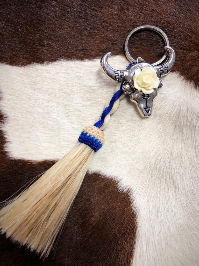 braided horsehair keychain