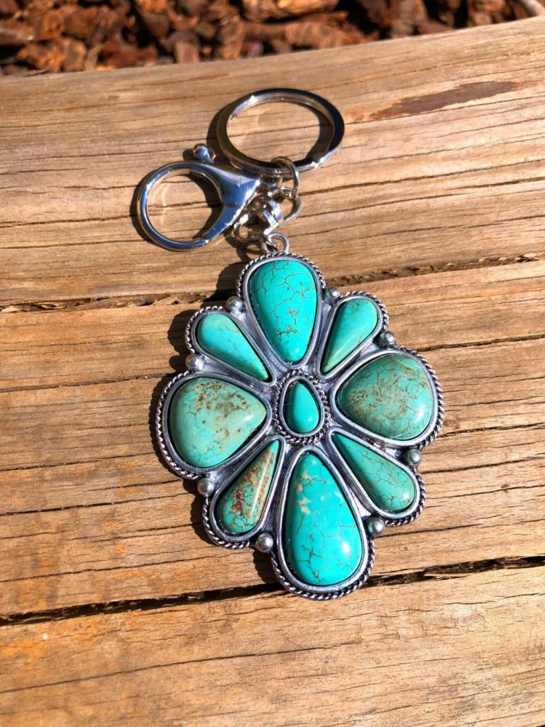natural stone keychain