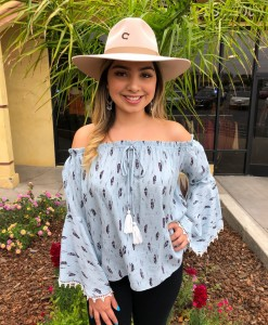 feather off shoulder women's top