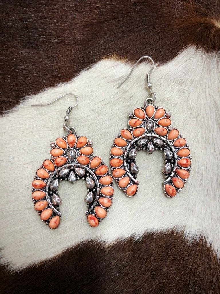 """"""" Kelly """" Squash Blossom Earrings ( Melon )"""