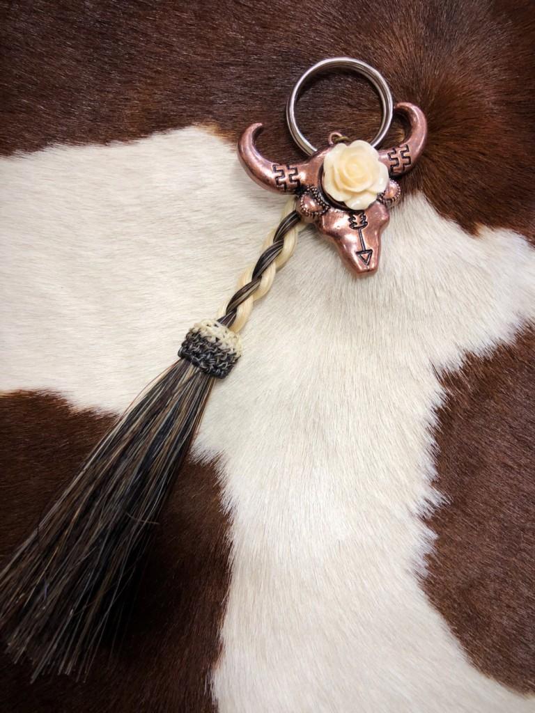 horsehair keychain