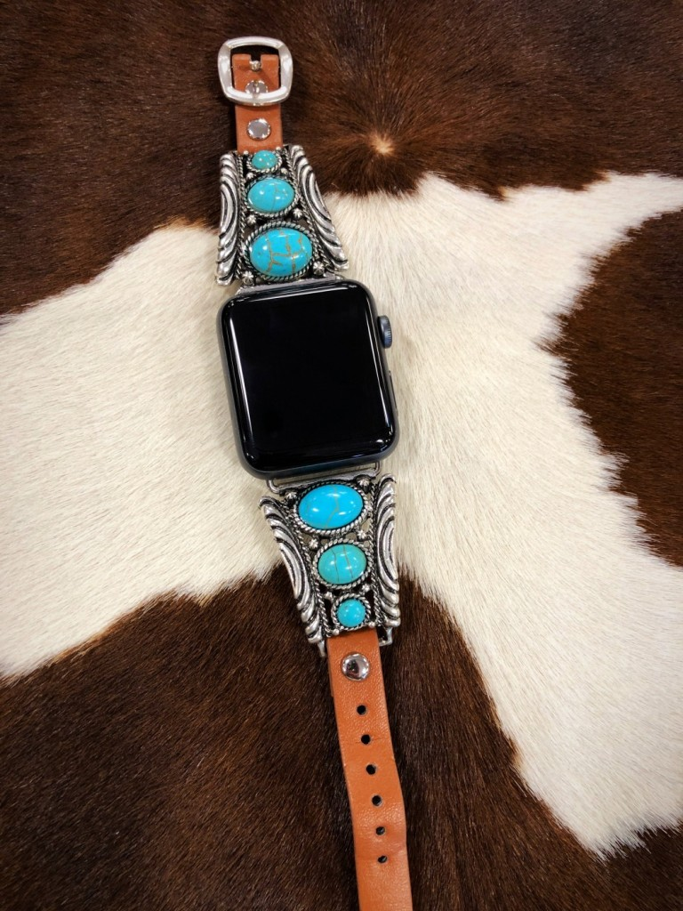 TURQUOISE APPLE WATCH BAND