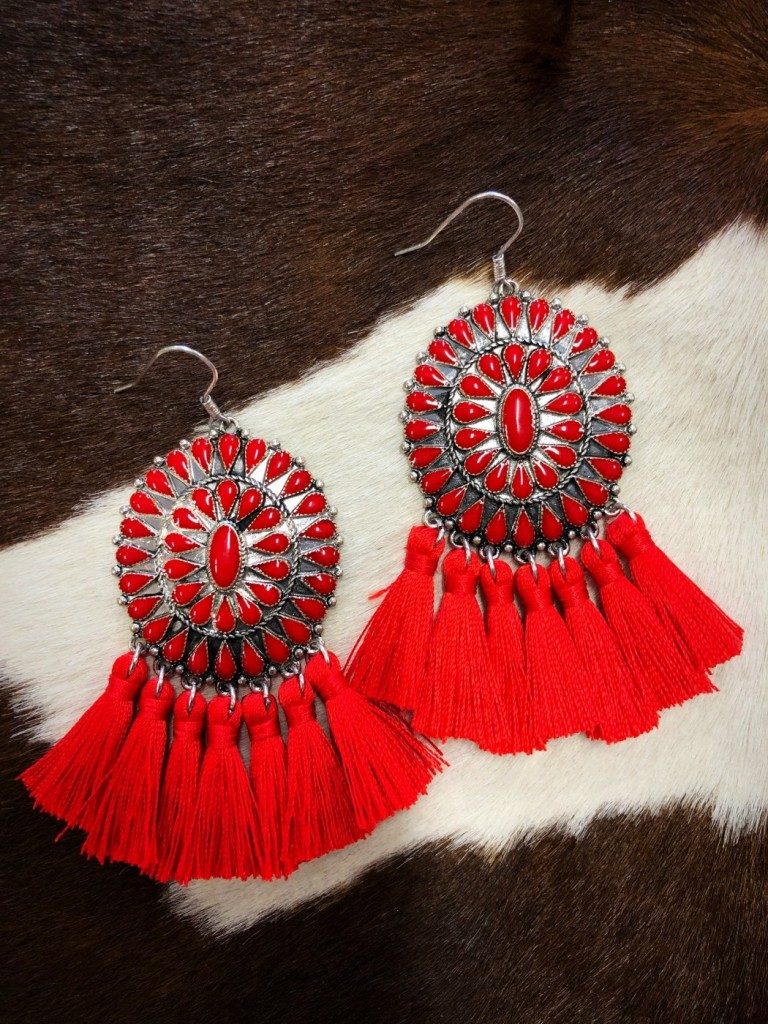 western concho earrings