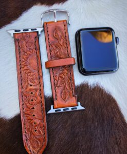 tooled apple watch band