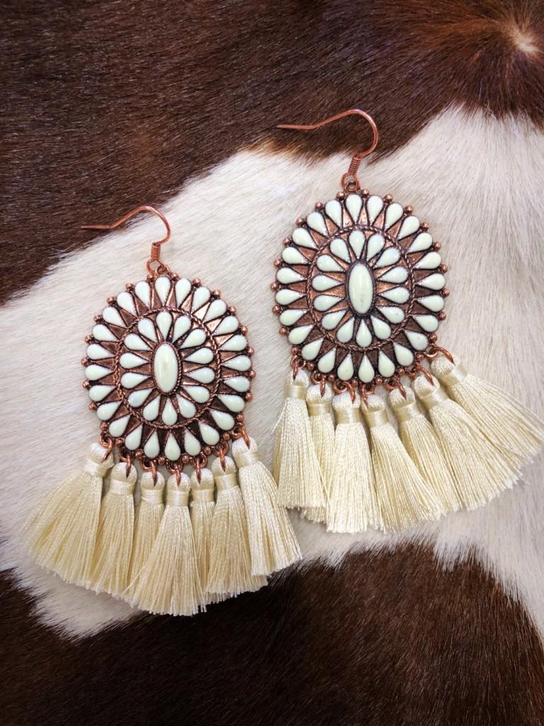 western concho earring