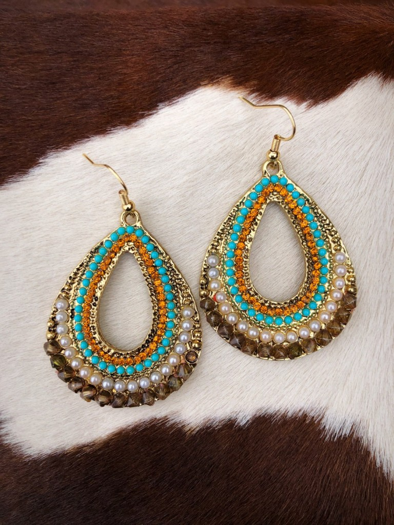 """Roxy "" Beaded Detail Earrings"