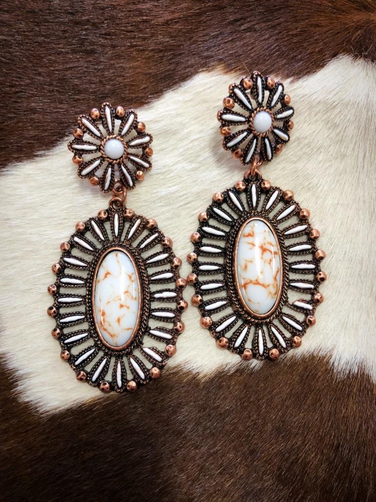western fashion earrings