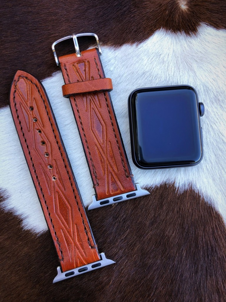 apple tooled leather watch band
