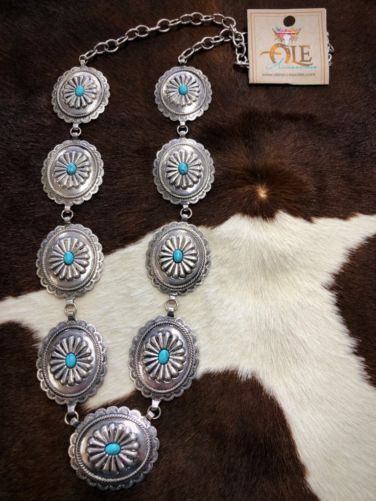 western concho necklace