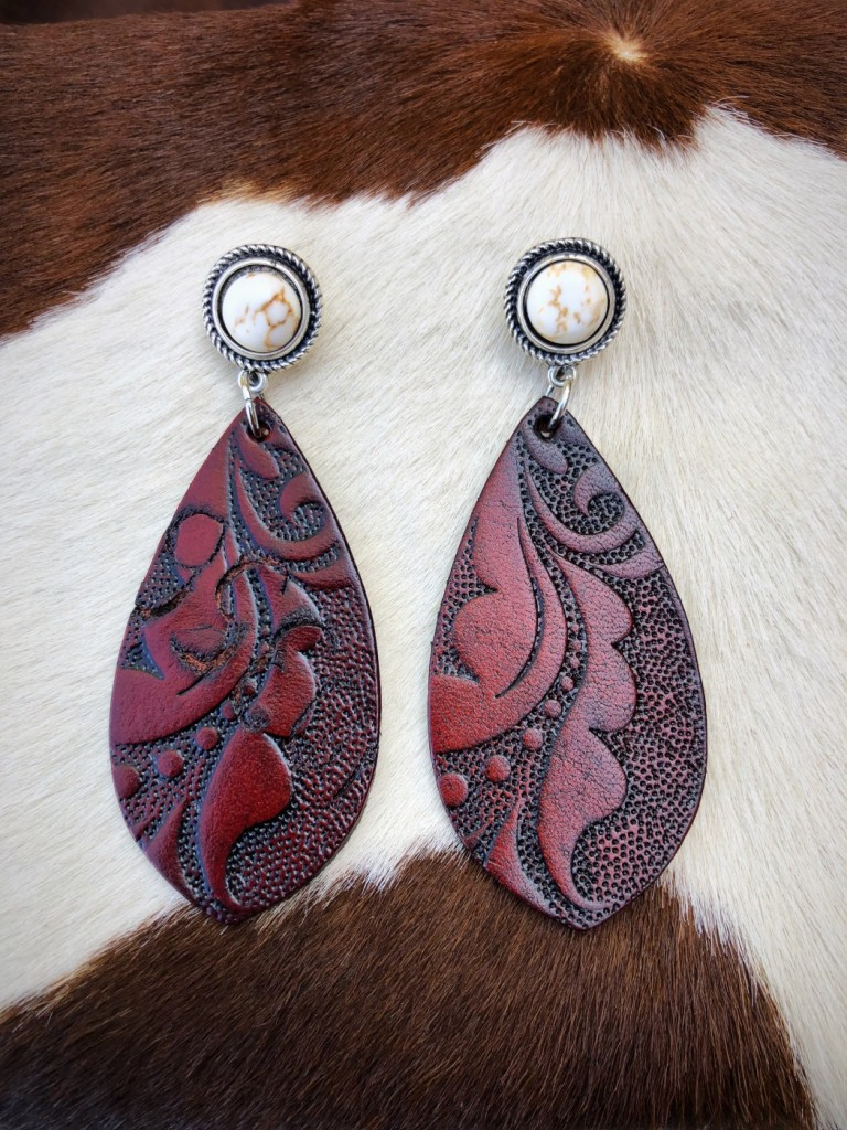 tooled earrings