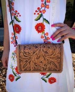 TOOLED PURSE