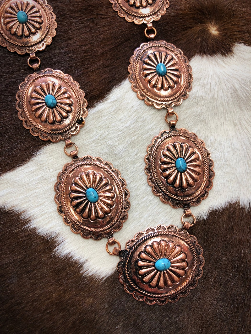 Madison Western Concho Necklace Copper