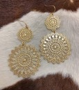 """"""" Mexicana """" Cut Out Detail Earrings ( Gold )"""