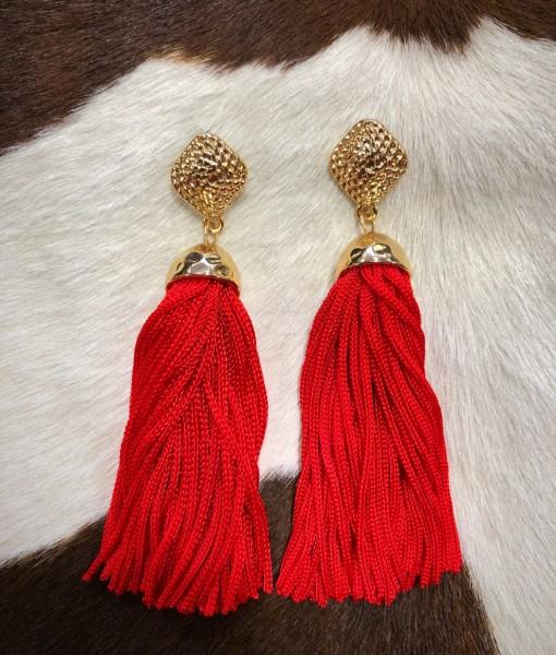 Janet  Tassel Earrings ( Mustard ) | Ale Accessories