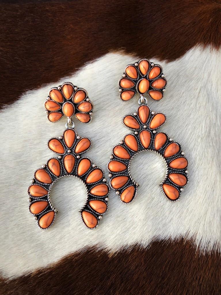 squash blossom earrings